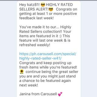 Thank you, Carousell
