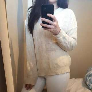 Cream colour knit top