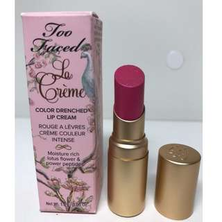 Too Faced La Creme Color Drenched Lip Cream In Mean Girls 1.5g BRAND NEW & AUTHENTIC (NO OFFERS)