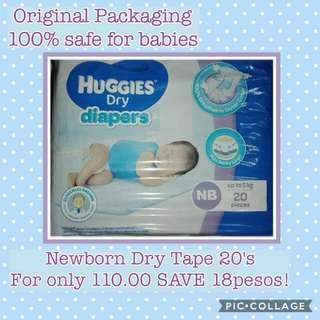 Huggies dry newborn 20s