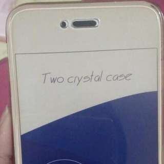 Double Crystal Case Rosegold