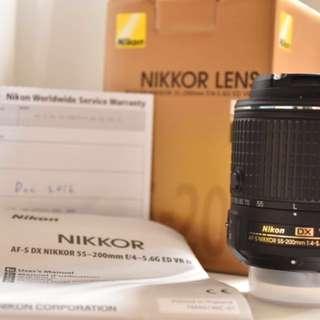 Nikon AF-S DX NIKKOR 55-200mm F/4-5.6G EDVR II