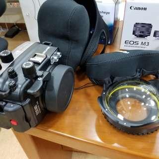 Canon eos m3 22+15-45mm diving housing light