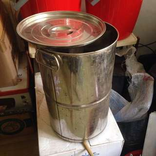 🚚 Stainless Steel container w cover 20L