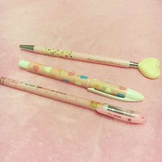 Cute pink pens Kikki k morning glory