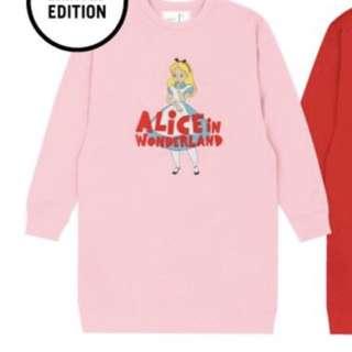 現貨 Chocoolate x Alice APM 限定版 粉紅色長衛衣 S碼