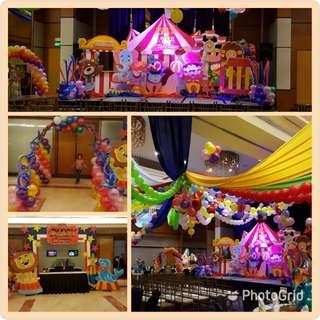 Circus or Carnival Themed Styro Backdrop