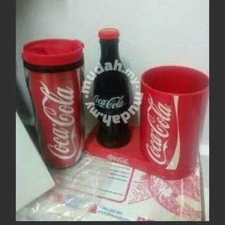 Coca-Cola Tumbler & Straw Holder
