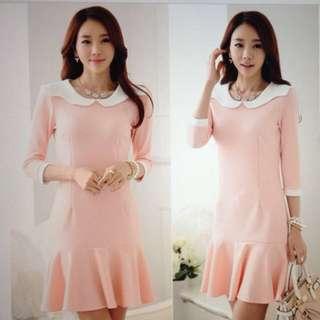 BN Korean Style Drop Waist Sweet Elegance Dress
