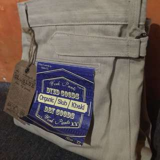 OLD BLUE Work Pants Type II - Organic Khaki Selvedge