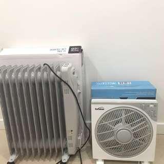 Fan and heater