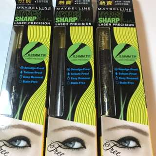 Maybelline hyper sharp laser precision 0.01眼線筆