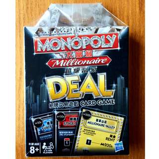 Monopoly Milllionaire Deal Card Game