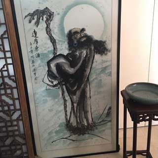 Chinese ink painting, calligraphy
