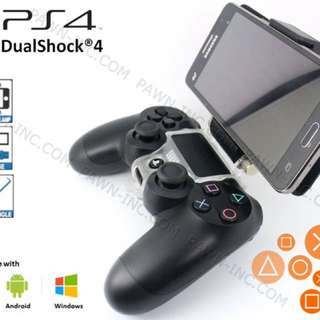 PS3 and PS4 controller to mobile phone clamp