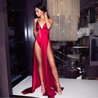 Red Maxi Formal Dress