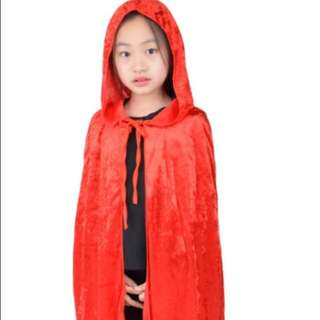 Kids Halloween Costume Kids Halloween Cape Girls Red Cape red riding hood