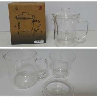 🚚 玻璃兩用品茗杯 FH-361-1,300ml