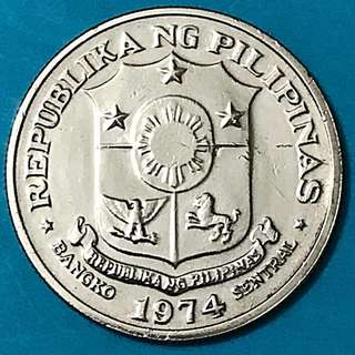 1974 Pilipinas Coin 1 Piso / Philippines Coin