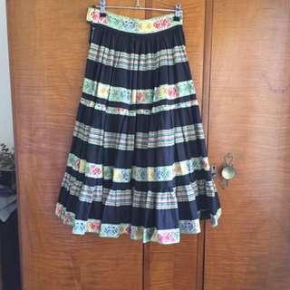 Vintage South American print skirt
