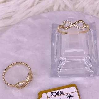 18K Saudi gold infinity ring