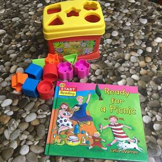 Fisher Price Shapes with FREE book