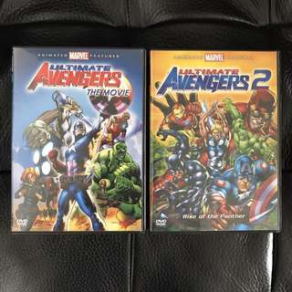 Ultimate Avengers The Movie And Ultimate Avengers 2 DVDs