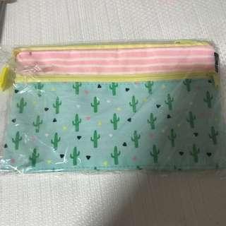 BN Typo cactus pastel pencil case