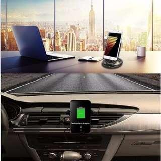 全球最新iPhone 8和iPhone X和三星,家用跟車用手機無線充電器,支援Qi全球搶翻了