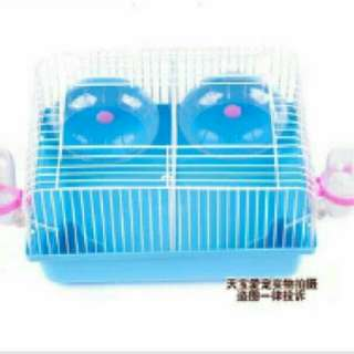 💙Instocks💙 28cm Hamster Cage With Divider