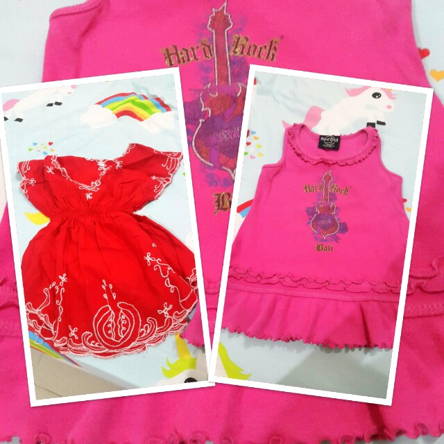 Pinky dress all 2 pcs