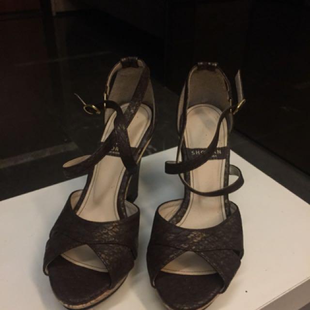 黑色編織偰鞋