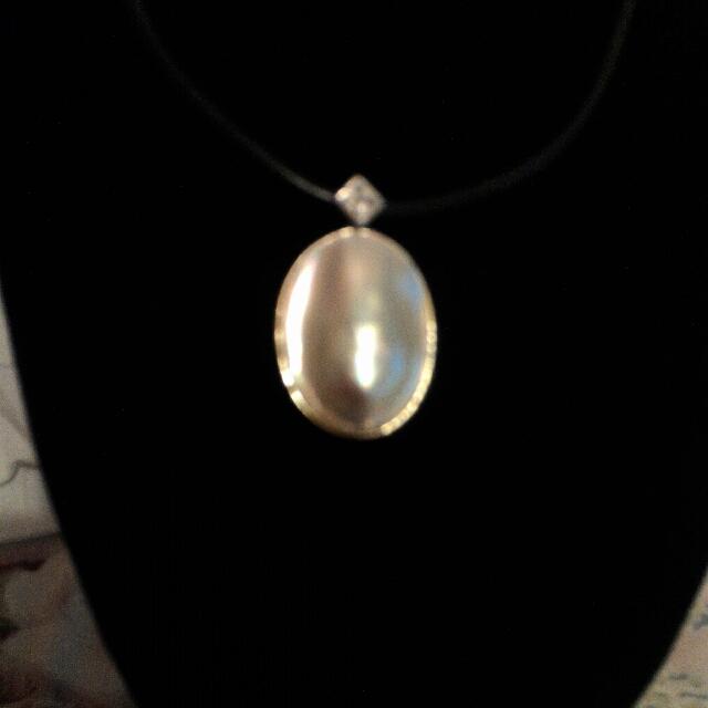 天然馬貝珍珠墬