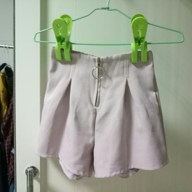 圓環粉紅短褲