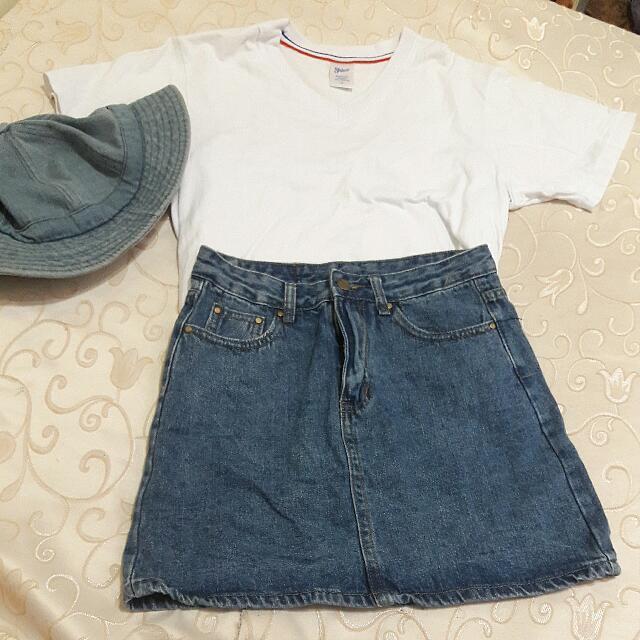 韓版牛仔緊身短裙