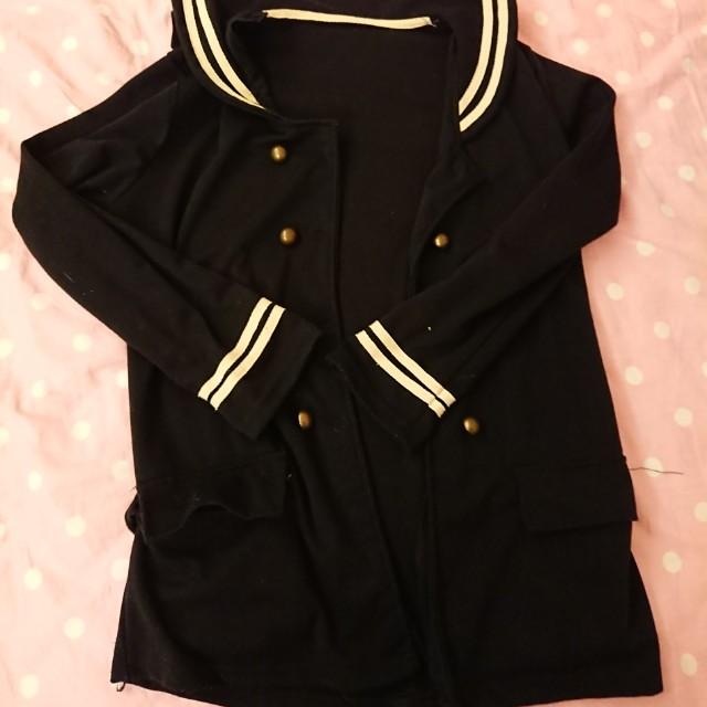 長版 日系 水手 外套