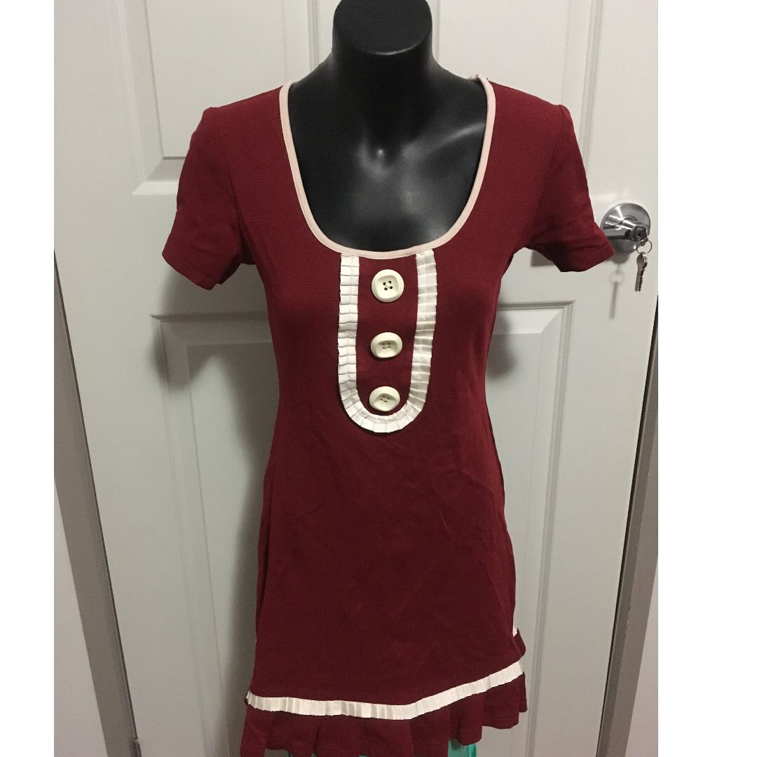 Alannah Hill  Red Pinch Me Squeeze Me Frock Size 6
