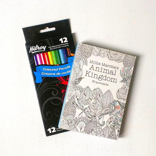 Animal Kingdom Adult Colouring Postcards