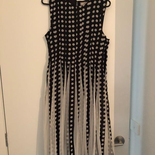 ASOS Polka Dot Spring Racing Dress Size 10