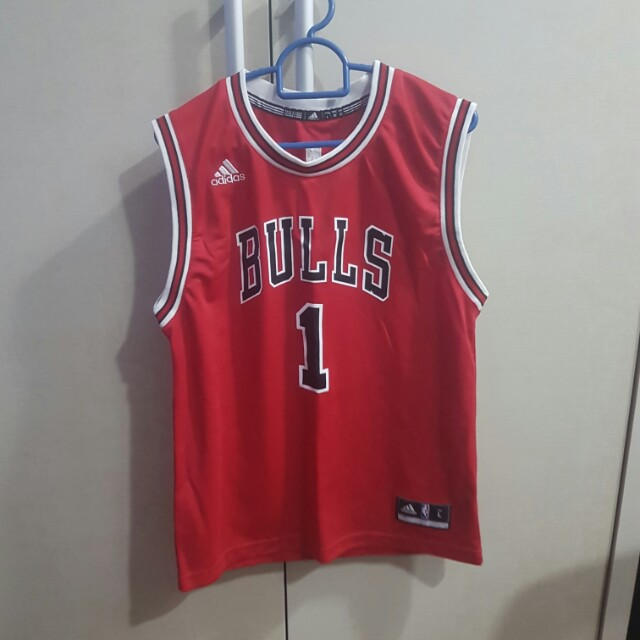 0a60ee9ebb9d AUTHENTIC Adidas NBA Chicago Bulls Derrick Rose New Revolution 30 Swingman  Red Jersey Youth