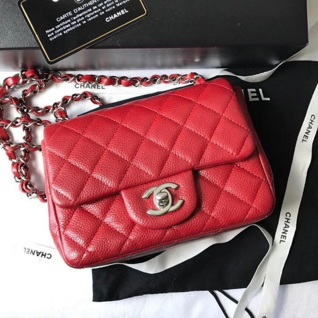 b895abd913d8 Authentic Chanel Classic Mini Square Flap Bag, Luxury, Bags ...