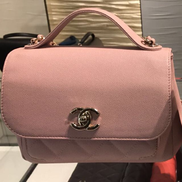 d39becee7f07 Authentic Chanel Small Business Affinity Flap Bag with Top Handle ...