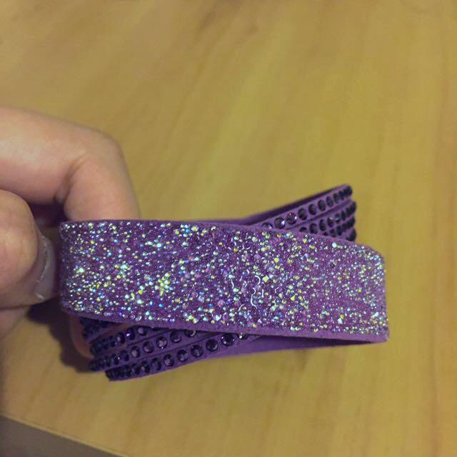 Authentic Swarovski Slake Bracelet (purple)