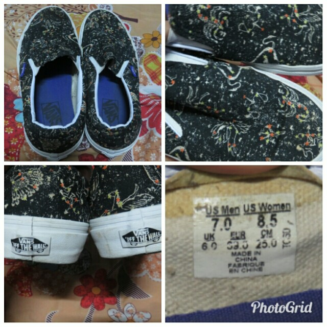 Authentic Vans (Zodiac Signs Designed) Shoes UNISEX on Carousell