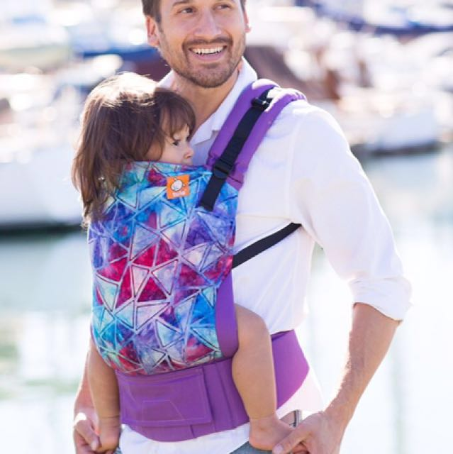 465e96c4750 Baby Tula Carrier - Spectrum of colour on purple canvas