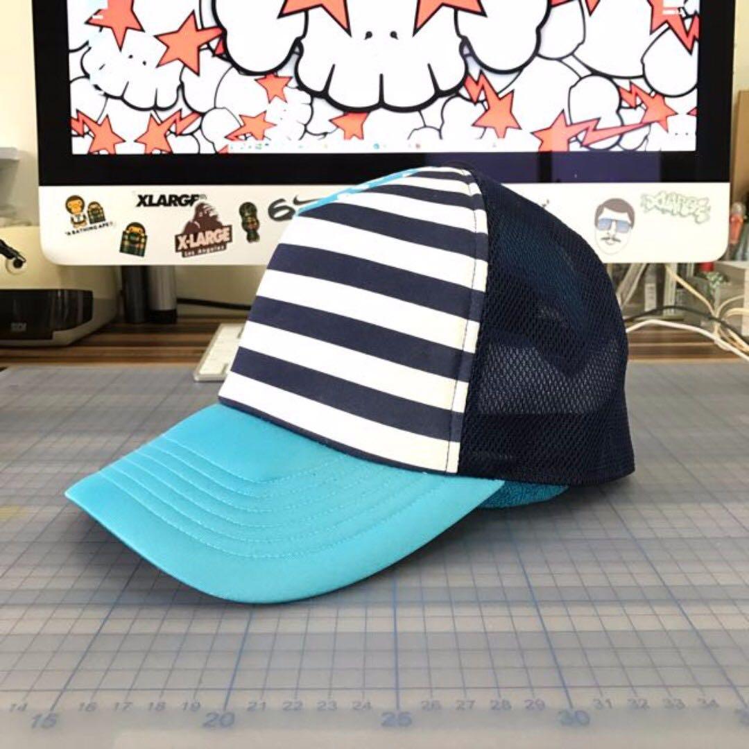 BAPE 雙色條紋網帽