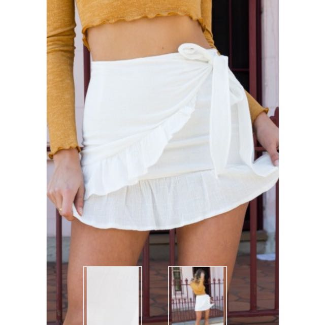 Beginning Boutique white skirt size 8