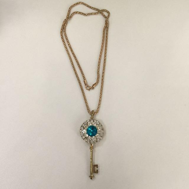 Bejeweled Key Necklace