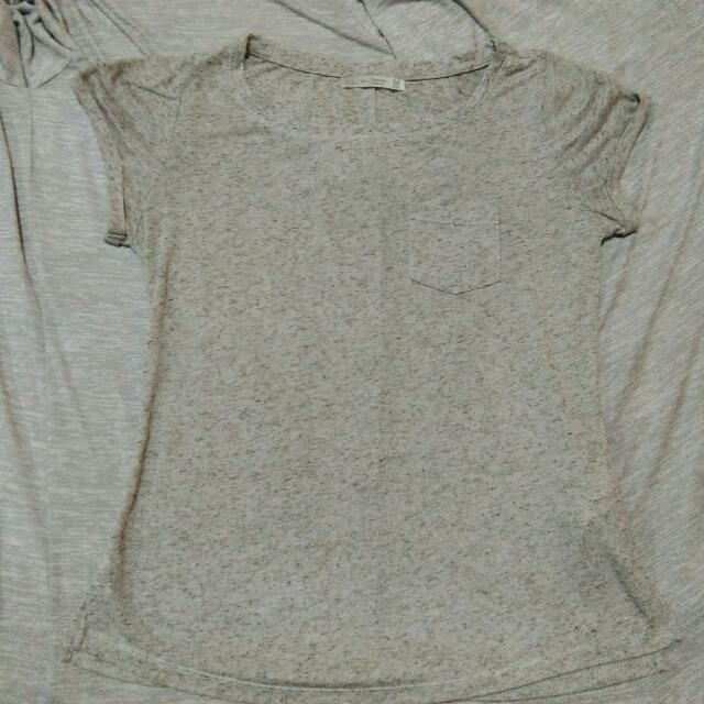 Bershka Grey Misty Tshirt