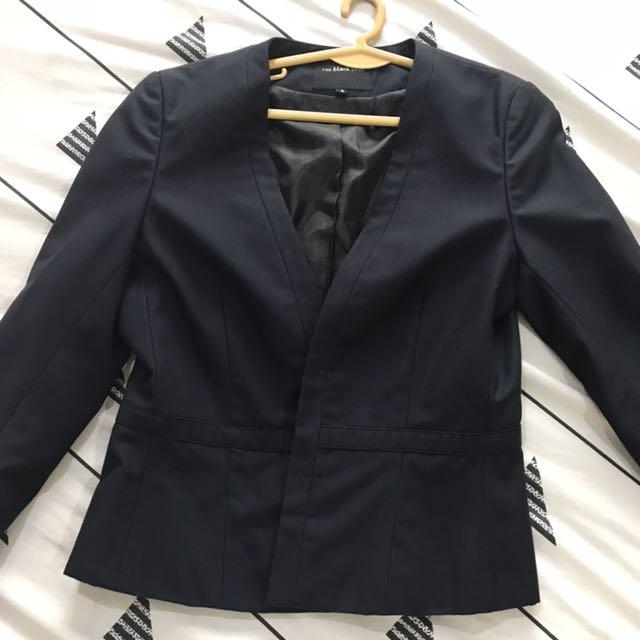 Black officewear blazer